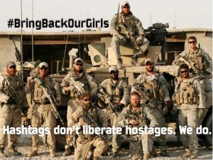 Hashtages don't liberate hostages. We do. BnT3HpzCIAE8bCl